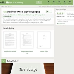 How to Write Movie Scripts (with Examples)