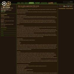How to write a good short film script - Bulletfilm Blogs