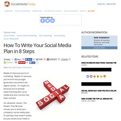 How To Write Your Social Media Plan in 8 Steps