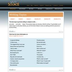 Write Source - Writing Topics