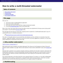 How to write a multi-threaded webcrawler in Java