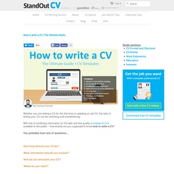 The Ultimate Guide + CV template