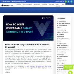 How to Write Upgradable Smart Contract in Vyper?