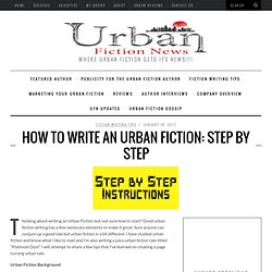Writing Urban Fiction