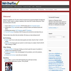writefix.com | Argument essays, graphs, other writing, and speaking for IELTS, PET, and TOEFL