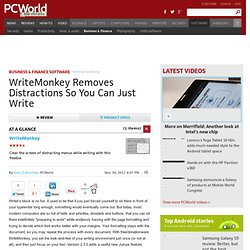 WriteMonkey description, Word Processing Downloads List By 30 Day Change | PCWorld