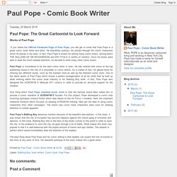 Paul Pope: The Great Cartoonist to Look Forward