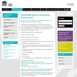 2016 NSW Writer's Fellowship (Early career)