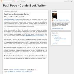 Paul Pope - Comic Book Writer: PaulPope: A Comic Artist Genius