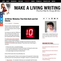 10 Writer Websites That Kick Butt and Get Clients