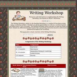 Writer's Workshop Resources and Ideas