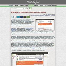 Writer2epub, une extension LibreOffice pour créer ses ebooks (epub)