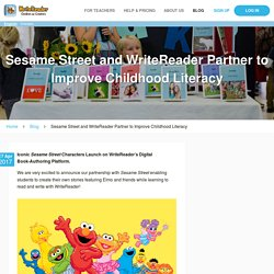 Sesame Street and WriteReader Partner to Improve Childhood Literacy
