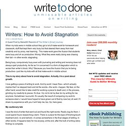 Writers: How to Avoid Stagnation