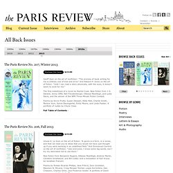 Writers, Quotes, Biography, Poetry, Fiction, Artists - Paris Review