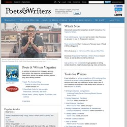 Poets & Writers | Contests, MFA Programs, Agents & Grants for Writers