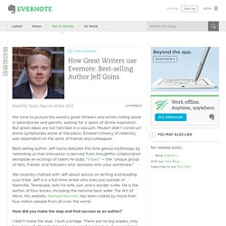 How Great Writers use Evernote: Best-selling Author Jeff Goins