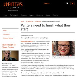 Writers need to finish what they start