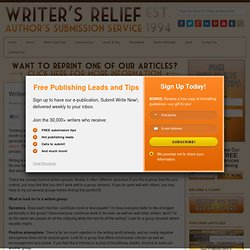 Writers Groups - Writer's Relief, Inc.