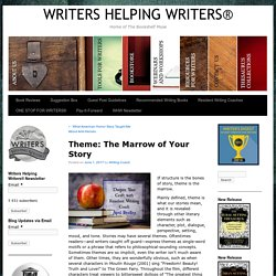 Theme: The Marrow of Your Story – WRITERS HELPING WRITERS®