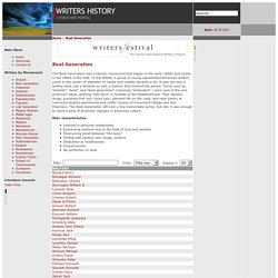 Writers History - Beat Generation