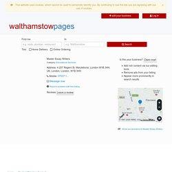 Master Essay Writers 4 207 Regent St, Marylebone, London W1B 3HH, UK, London, London, W1B3HH - Walthamstow Pages