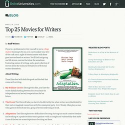 Top 25 Movies for Writers