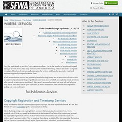 WRITERS' SERVICES