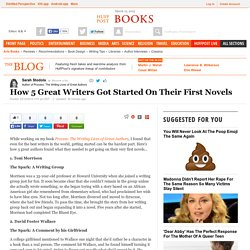 How 5 Great Writers Got Started On Their First Novels