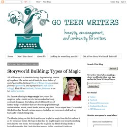 Go Teen Writers: Storyworld Building: Types of Magic