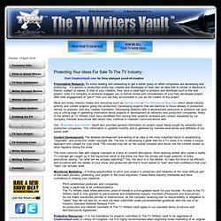 The TV Writers Vault - Protect & Pitch Your Reality TV Show Idea