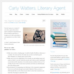 Carly Watters, Literary Agent