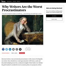 Why Writers Are the Worst Procrastinators - Megan McArdle
