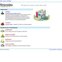 Writertopia - Writing Tools and Workshops