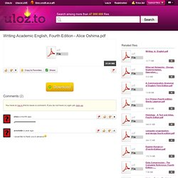 Academic writing needed english alice oshima pdf
