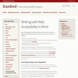 Writing with Web Accessibility in Mind