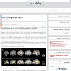 How Does Writing Affect Your Brain? - NeuroRelay