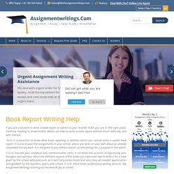 Book Report Writing @ Affordable Price & Plagiarism Free