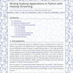 Writing Hadoop Applications in Python with Hadoop Streaming