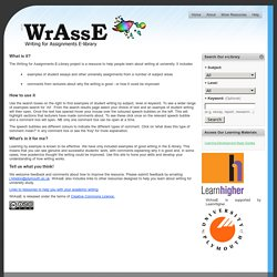 The Writing for Assignments E-library Project