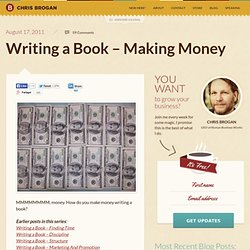 Writing a Book – Making Money