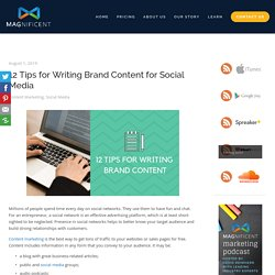 12 Tips for Writing Brand Content for Social Media