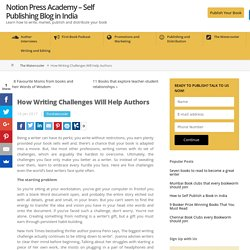 How Writing Challenges Will Help Authors