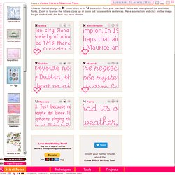 Cross Stitch Writing Tool - Print your own charted alphabet design.