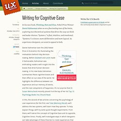 Writing for Cognitive Ease