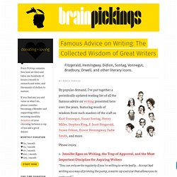 Famous Advice on Writing: The Collected Wisdom of Great Writers