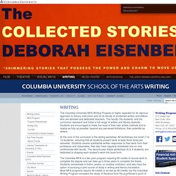 Writing | Columbia University School of the Arts