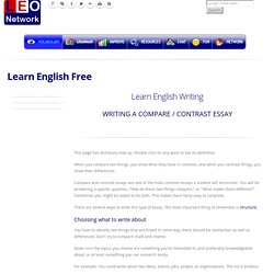Writing a compare contrast essay - English Writing