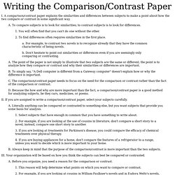 which of the following are characteristics of a good thesis statement in a compare and contrast