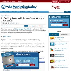 11 Writing Tools to Help You Stand Out from Competitors